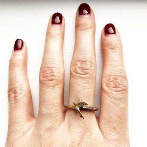 Vintage two-tone bird ring